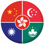 China Languages Flag 25mm Fridge Magnet